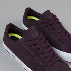 Converse One Star Pro OX Shoes - Black Cherry / White