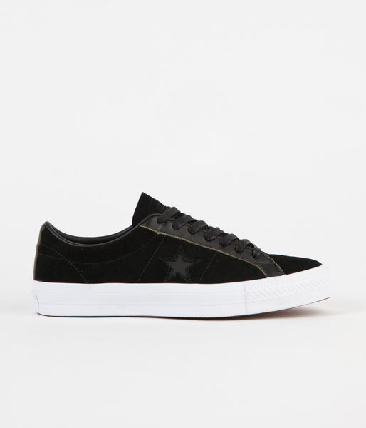 Converse One Star Pro Ox Shoes - Black / White / Black