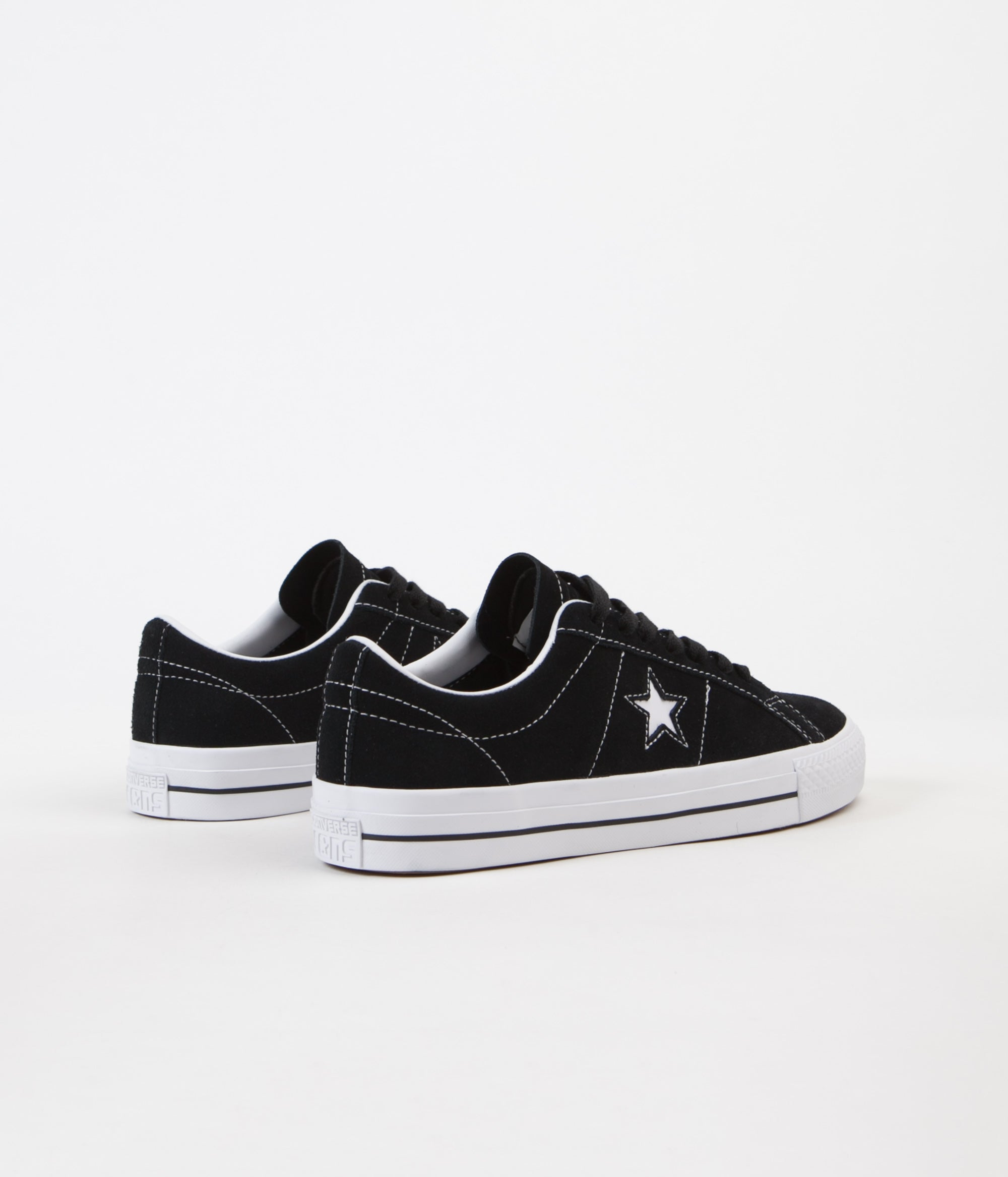Converse One Star Pro Ox Shoes - Black / White / White