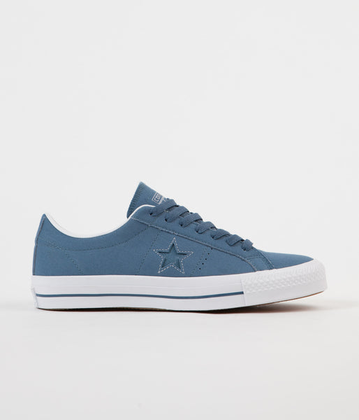 Converse One Star Pro Ox Shoes - Blue Coast / Blue Granite