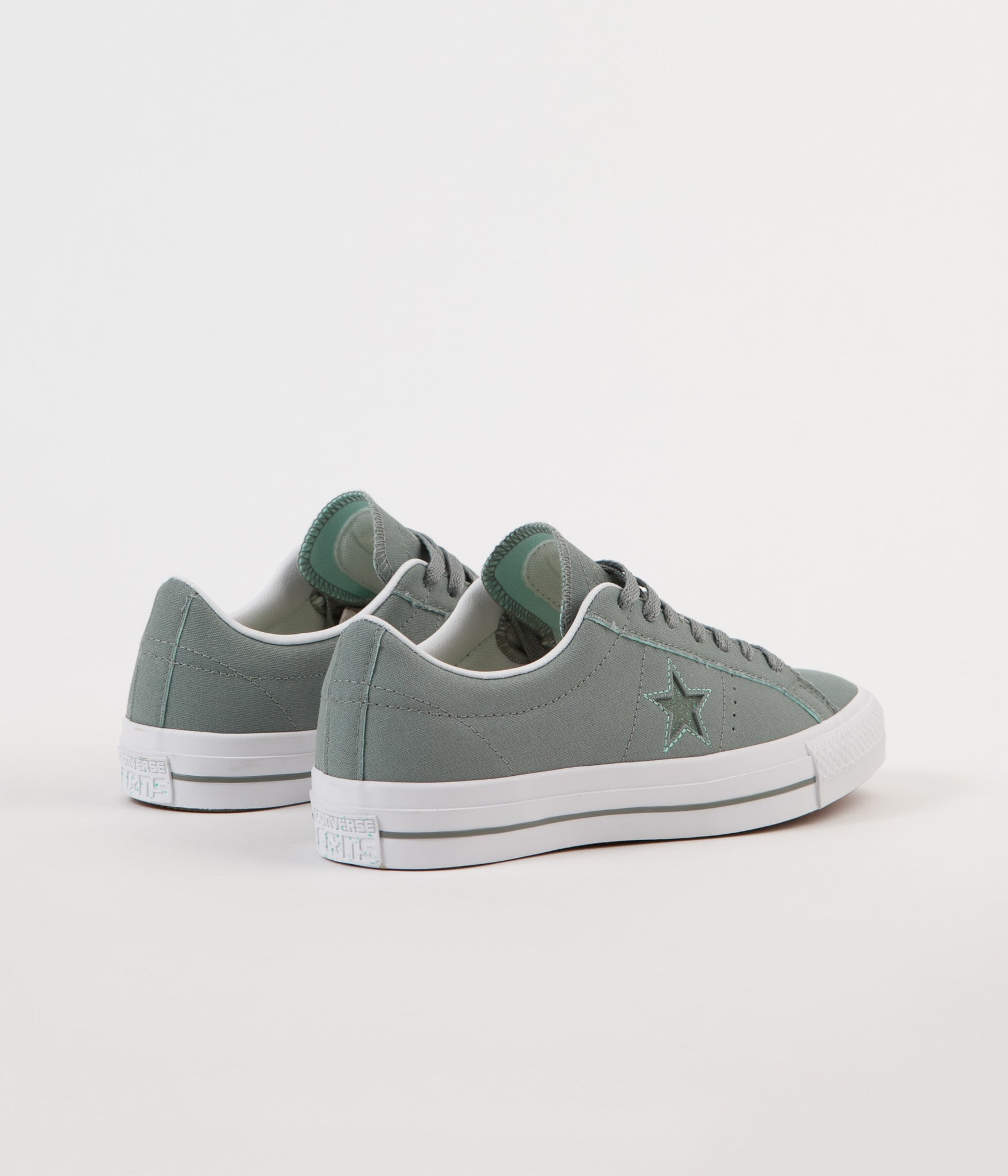 ... Converse One Star Pro Ox Shoes - Camo Green / Green Glow ...