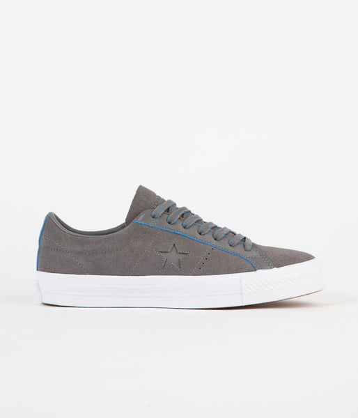Converse One Star Pro Ox Shoes - Charcoal Grey / Soar / White