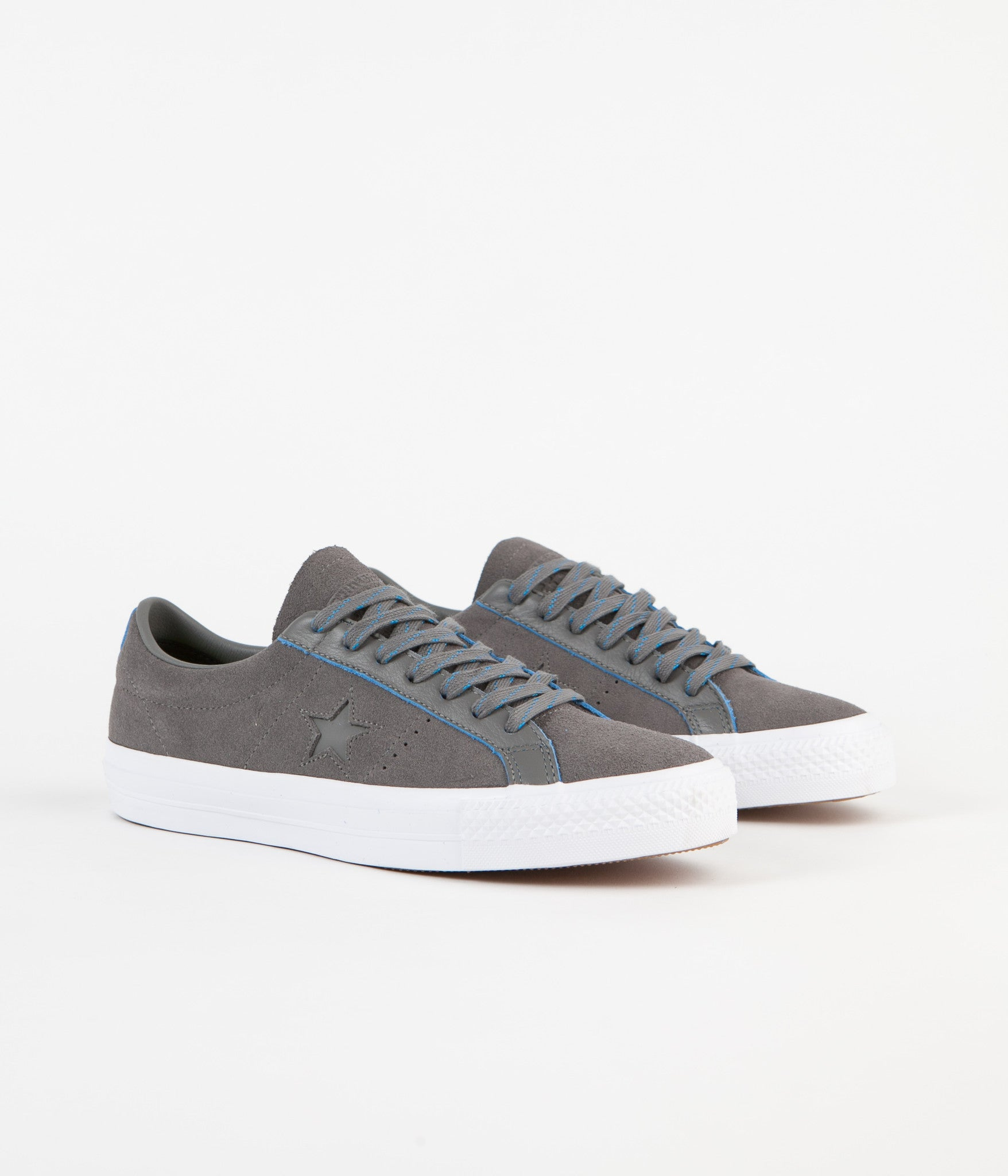 Chaussure Converse One Star Pro Ox Charcoal Grey Soar White