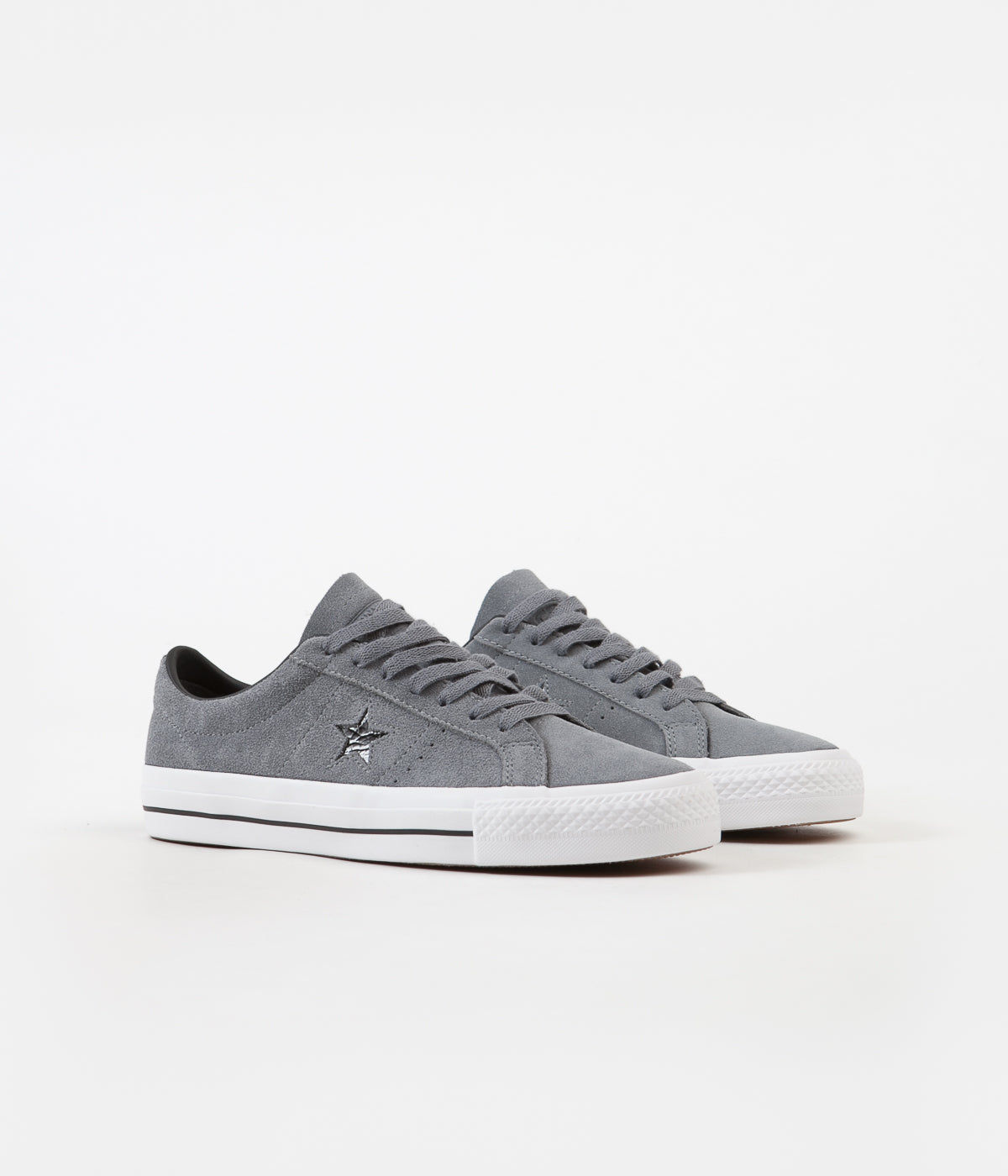 ... Converse One Star Pro Ox Shoes - Cool Grey   Black   White ... 3daf8a0a8
