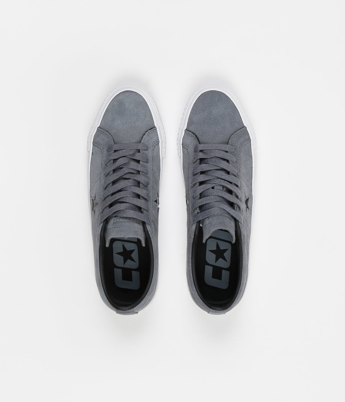 Converse One Star Pro Ox Shoes - Cool Grey   Black   White ... f3deb55f2