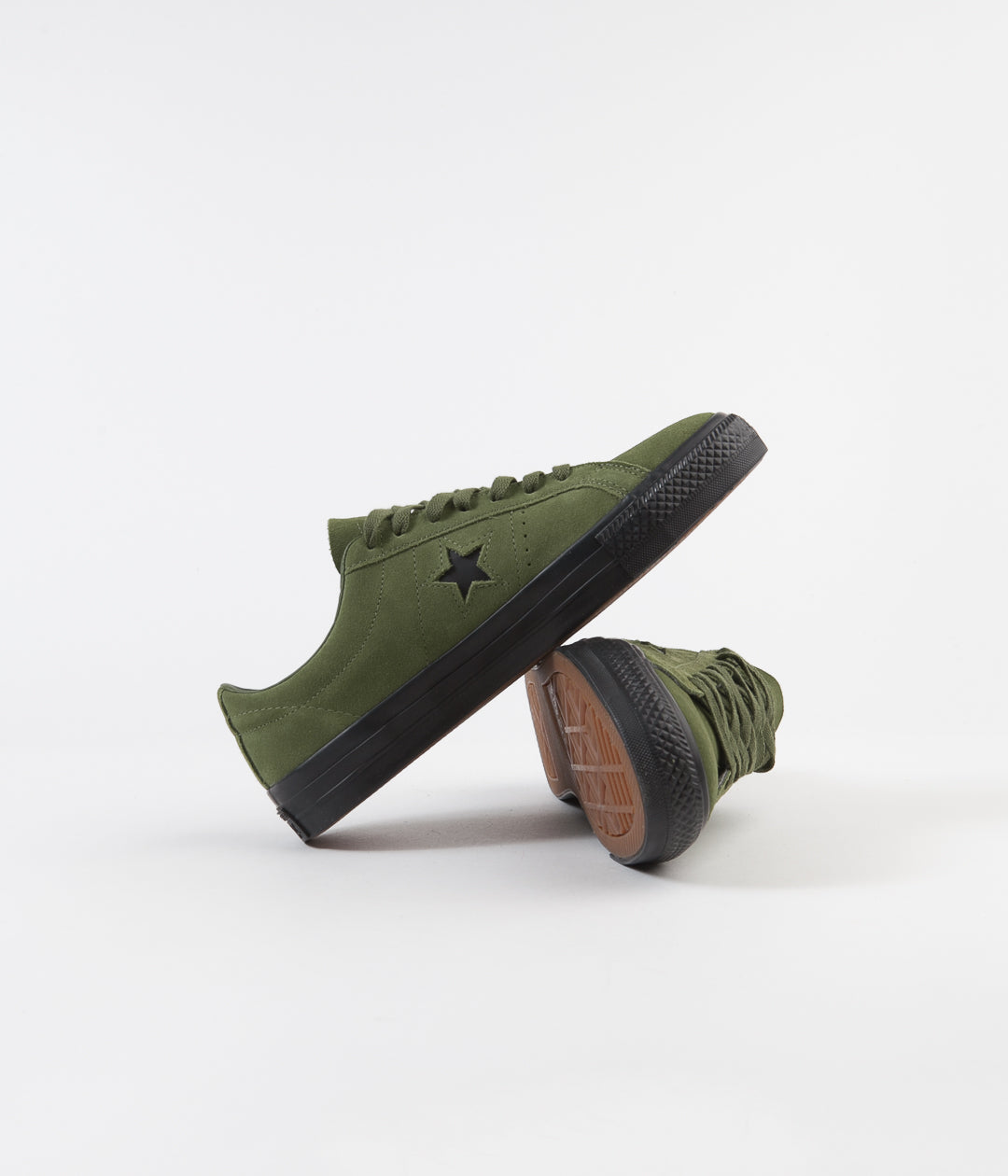 Converse One Star Pro Ox Shoes - Cypress Green / Black / Black