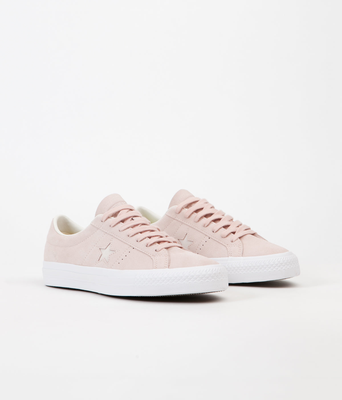 Converse One Star Pro Ox Shoes - Dusk Pink / Egret / White