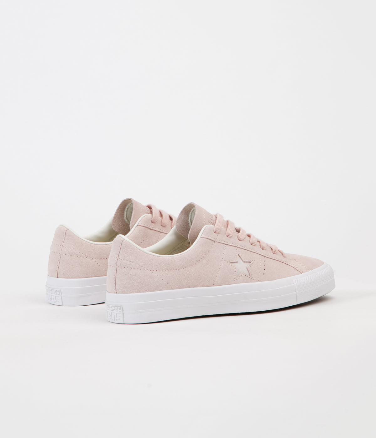 cde53f3e3552 ... Converse One Star Pro Ox Shoes - Dusk Pink   Egret   White ...