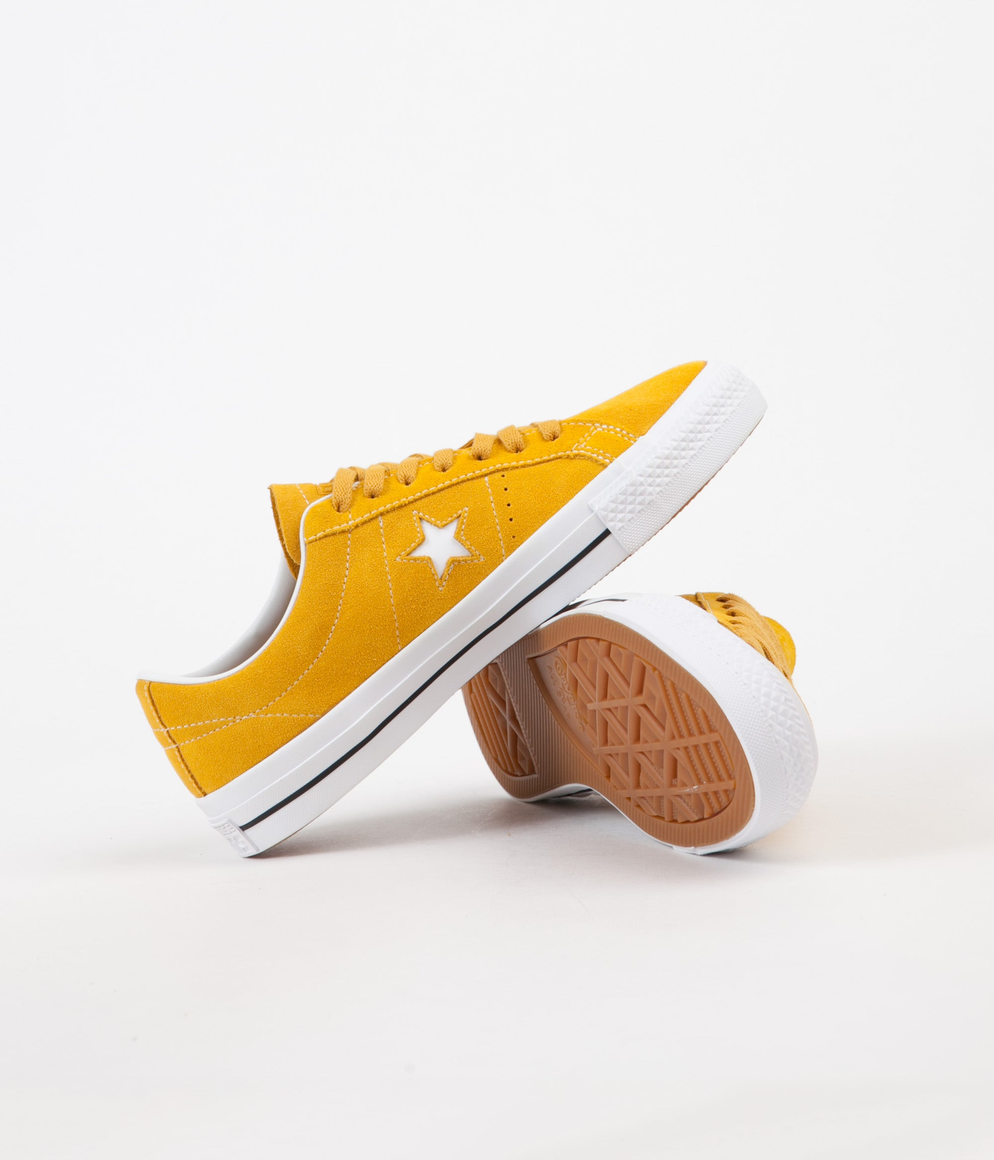 5d053834bbf239 ... Converse One Star Pro Ox Shoes - Mineral Yellow   White   Black ...