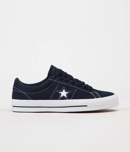Converse One Star Pro Ox Shoes - Obsidian / Obsidian / White
