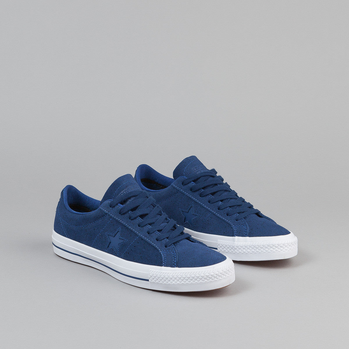 Converse One Star Pro OX Shoes - Roadtrip Blue / White