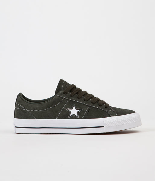 Converse One Star Pro Ox Shoes - Sequoia / Sequoia / White
