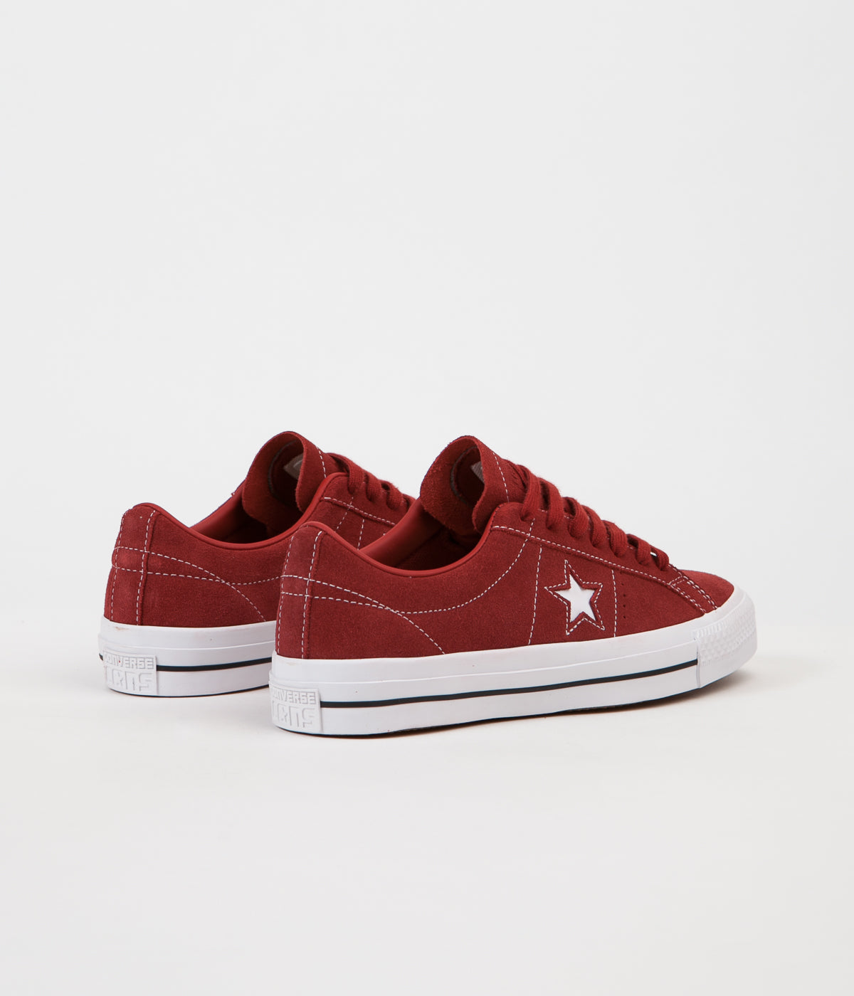 ... Converse One Star Pro Ox Shoes - Terra Red / Terra Red ...