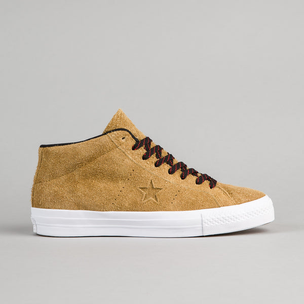Converse One Star Pro Suede Mid Shoes - Antiqued / Black