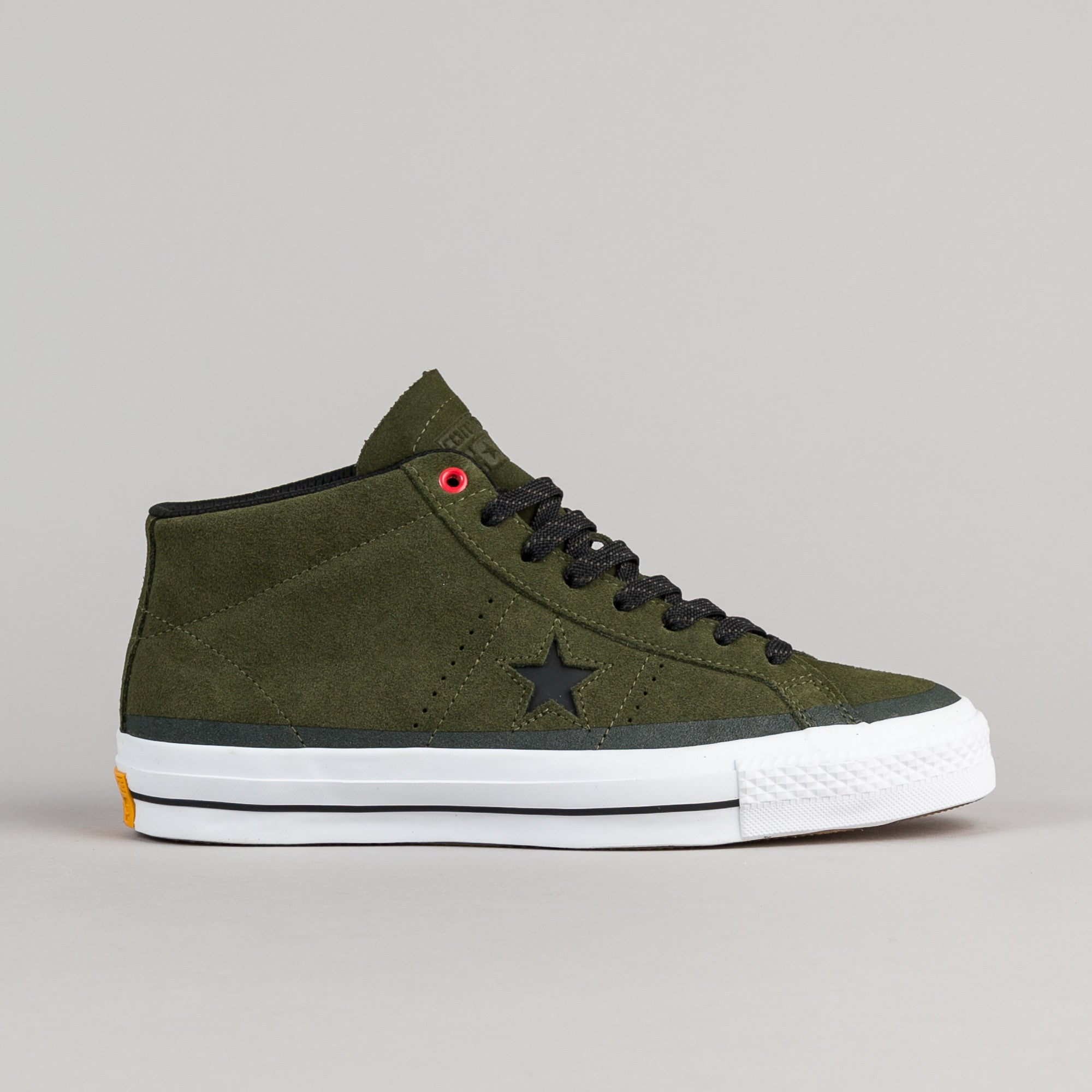 ... Converse One Star Pro Suede Mid Shoes - Herbal / Black / White ...