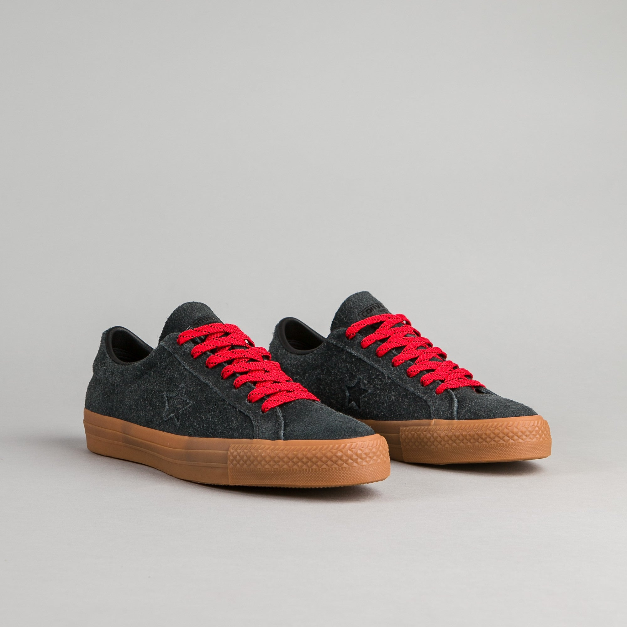 Converse One Star Pro Suede OX Shoes - Black / Casino / Gum
