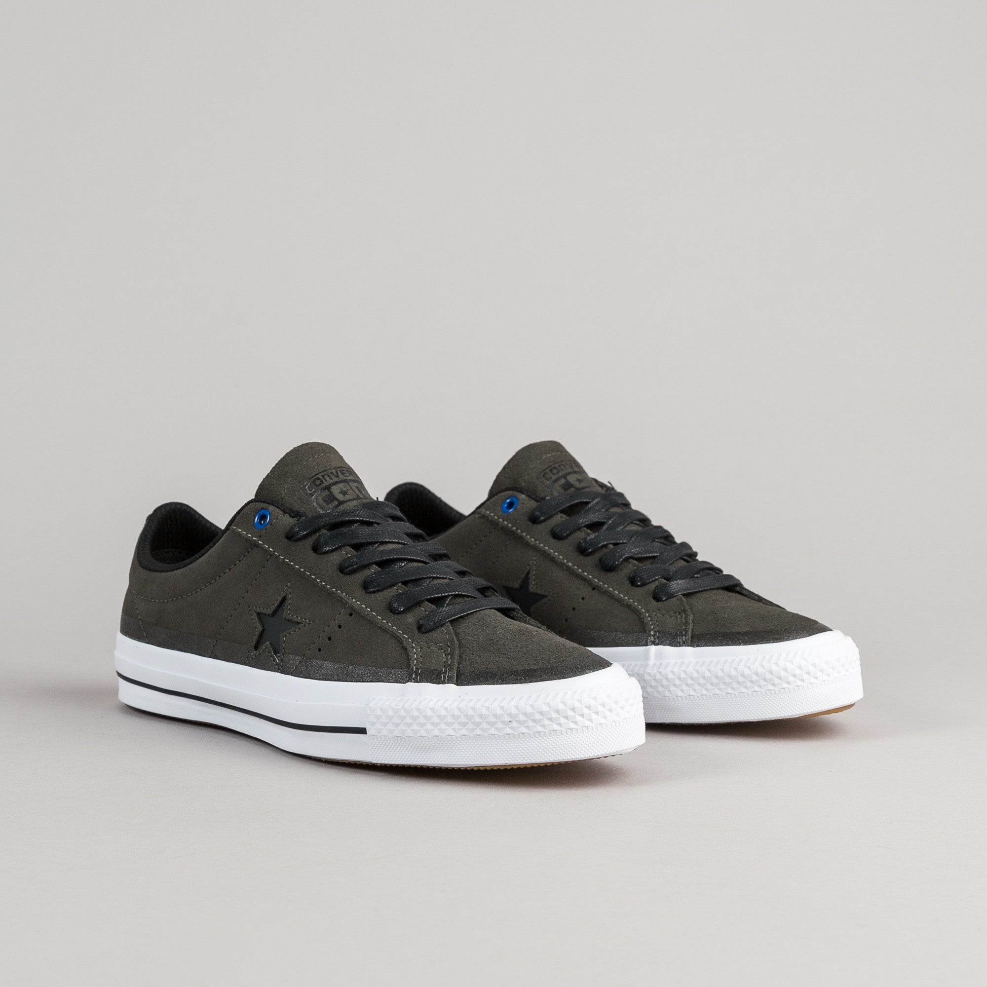 Converse One Star Pro Suede OX Shoes - Cast Iron / Black