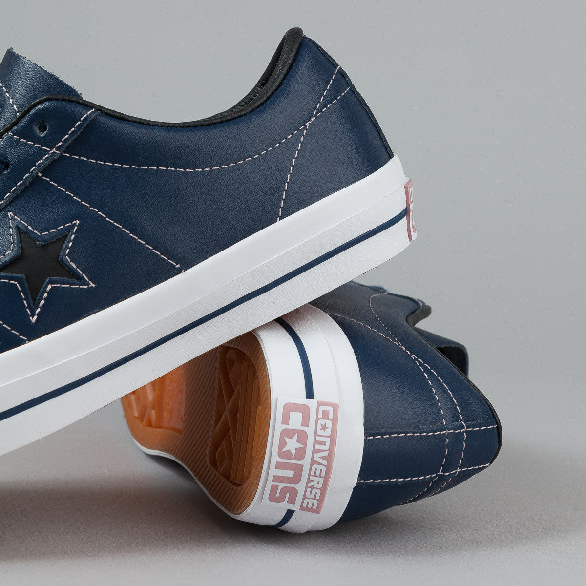 Converse One Star Skate Pro Ox Shoes - Nighttime Navy / Pink Freeze / White