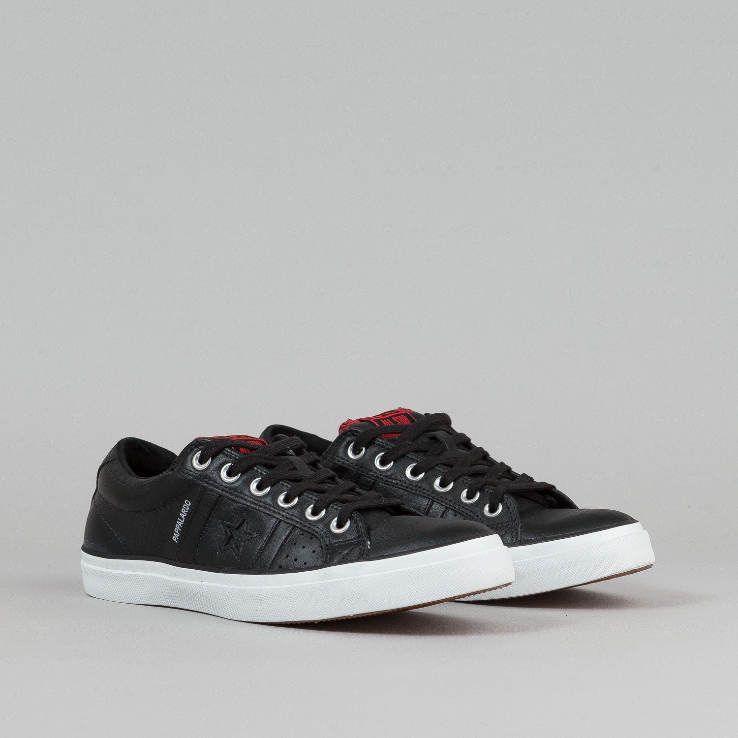 Converse Pappalardo OX Shoes - Black Leather