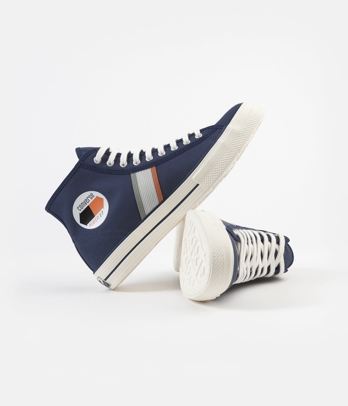 Converse Player LT Hi Shoes - Navy / Jade Stone / Egret
