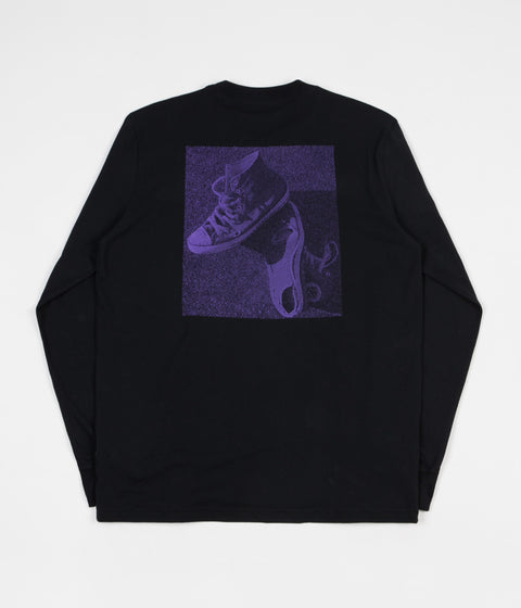Converse 'Purple Pack' Long Sleeve T-Shirt - Black
