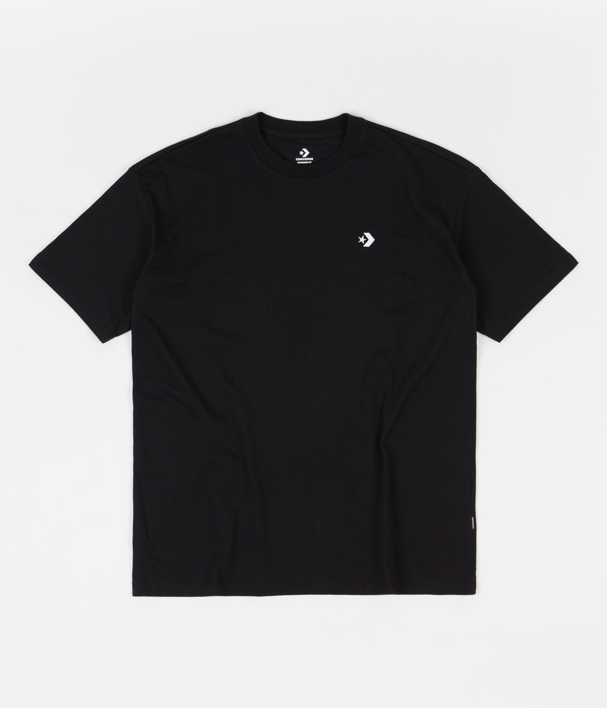 Converse Star Chevron Embroidered Oversized T-Shirt - Black