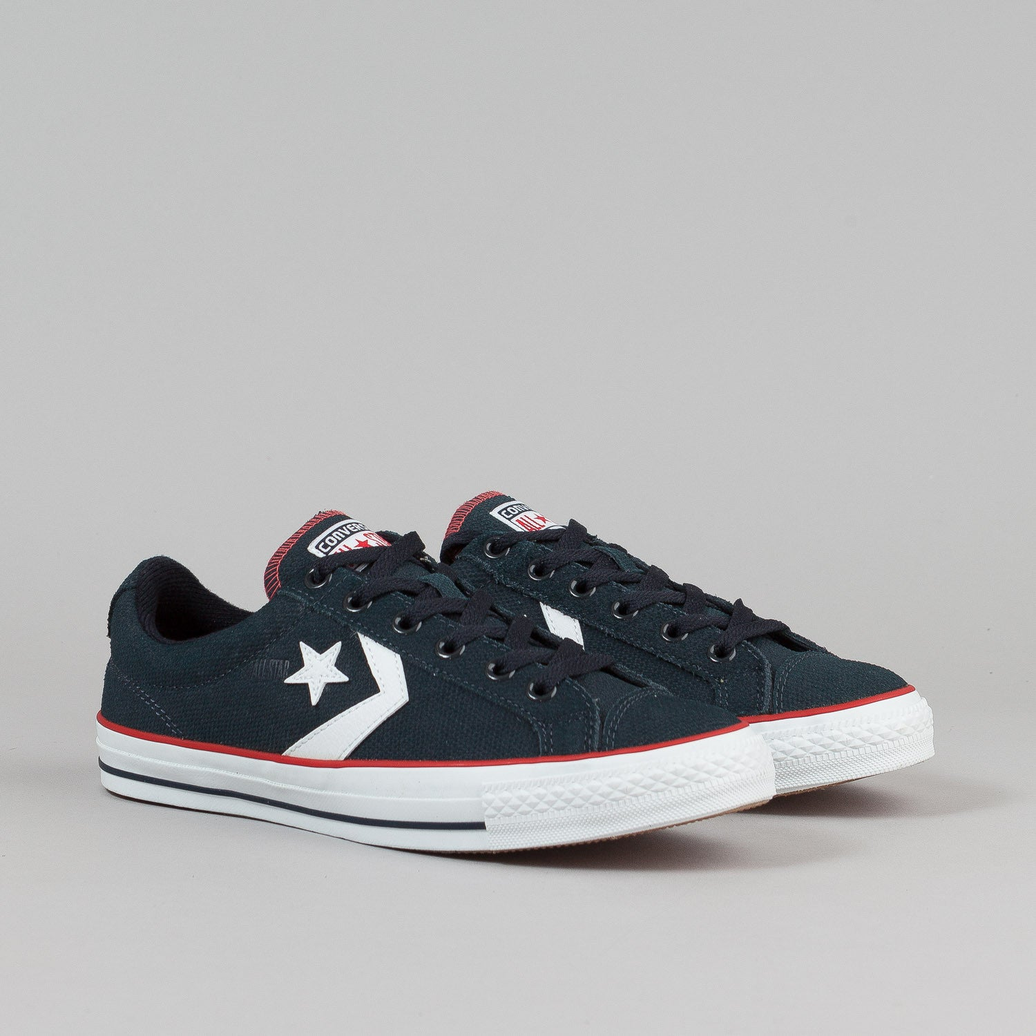Converse Star Player LS OX Shoes - Dark Navy / White