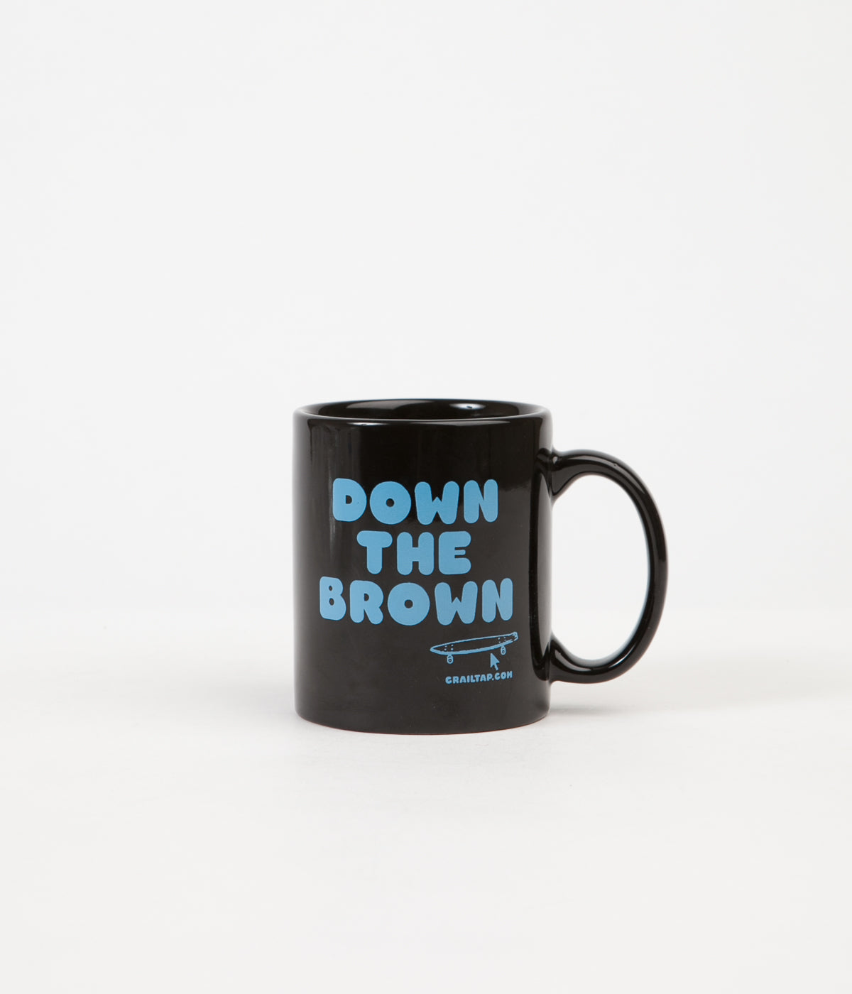 Crailtap Down The Brown Mug - Black