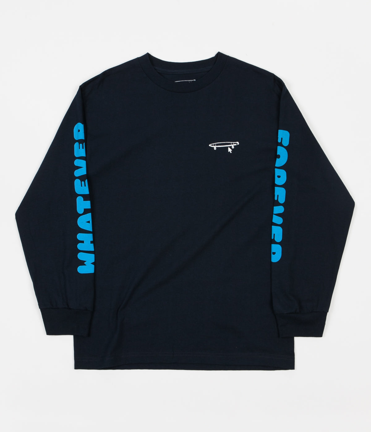 release date: 3f92a 785f3 crailtap-whatever-long-sleeve-t-shirt-navy-1.jpg v 1510741060