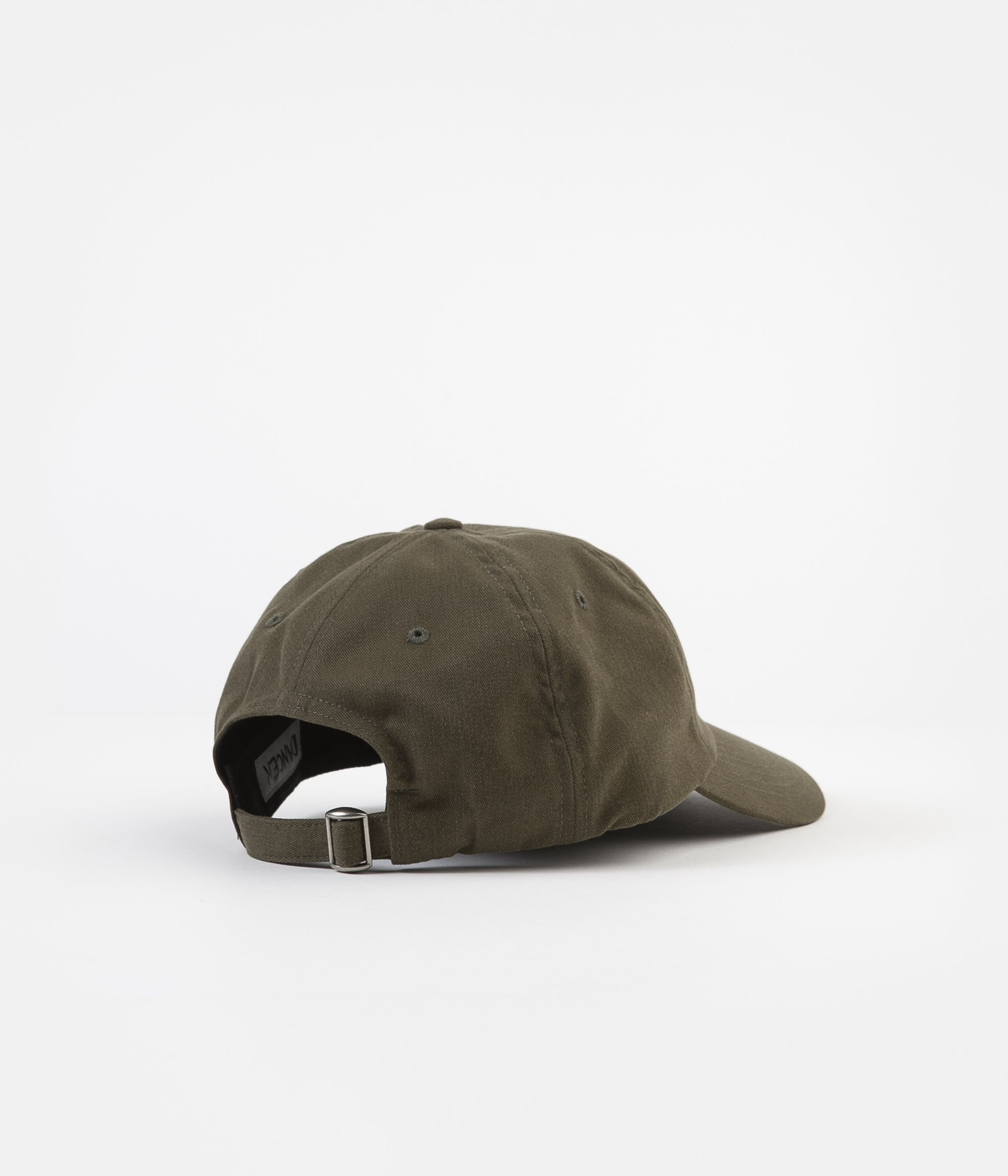 Dancer Logo Flower Sanded Twill Cap  - Army Green