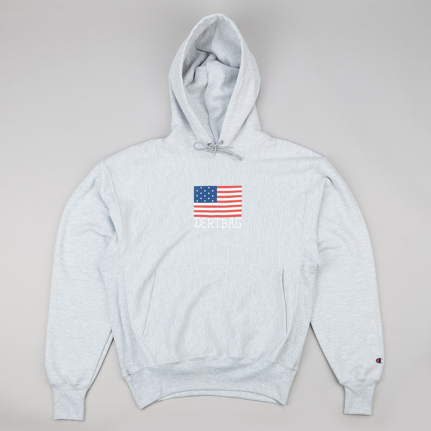 Dertbag Flag Reverse Weave Champion Hooded Sweatshirt