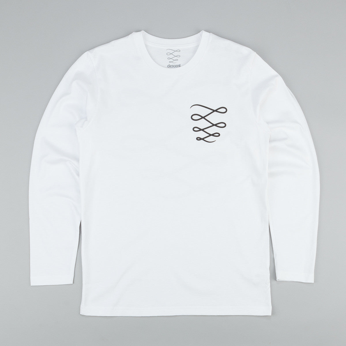 Descent OG Logo Longsleeve T-Shirt - White