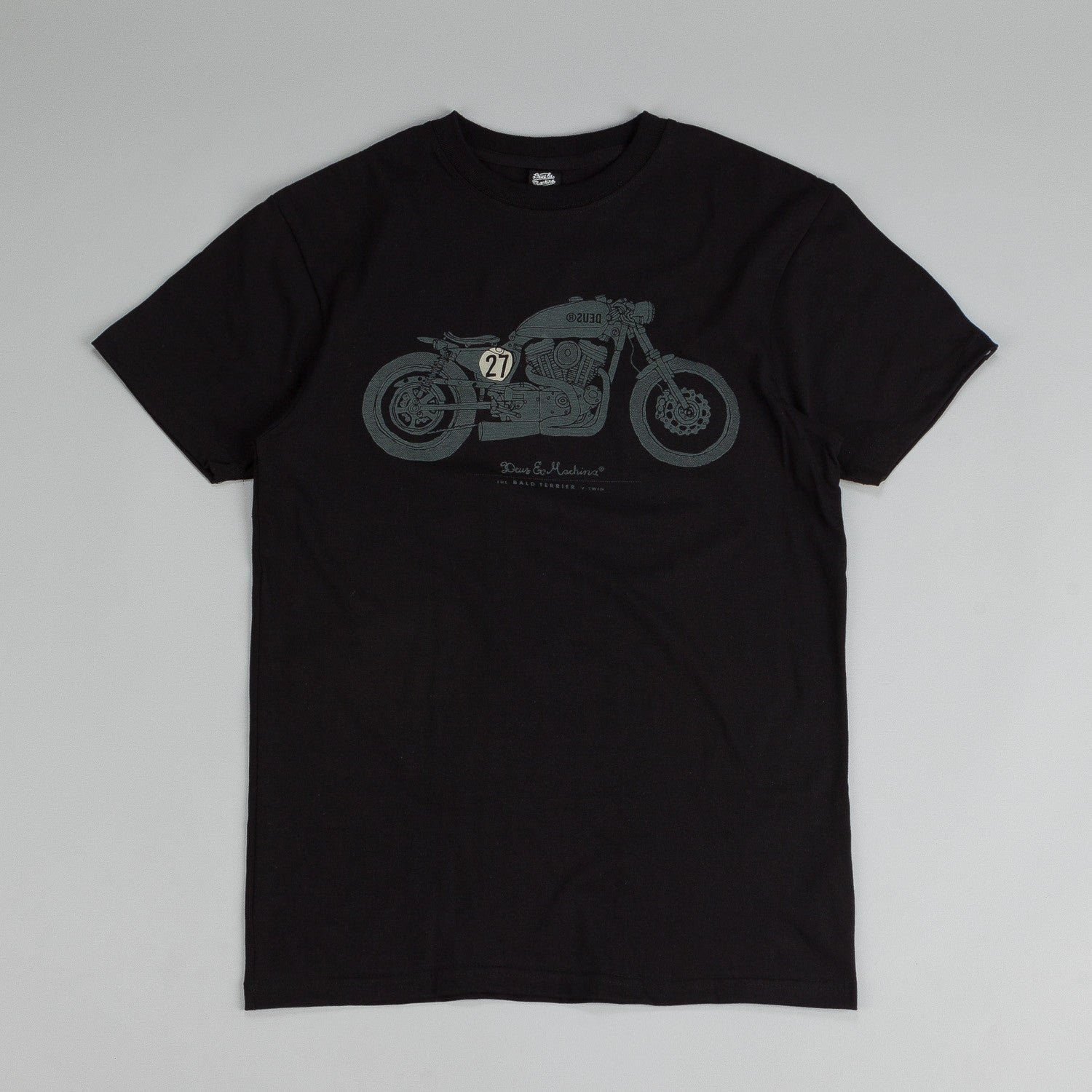 Deus Ex Machina Bald Terrier V-Twin T Shirt Black