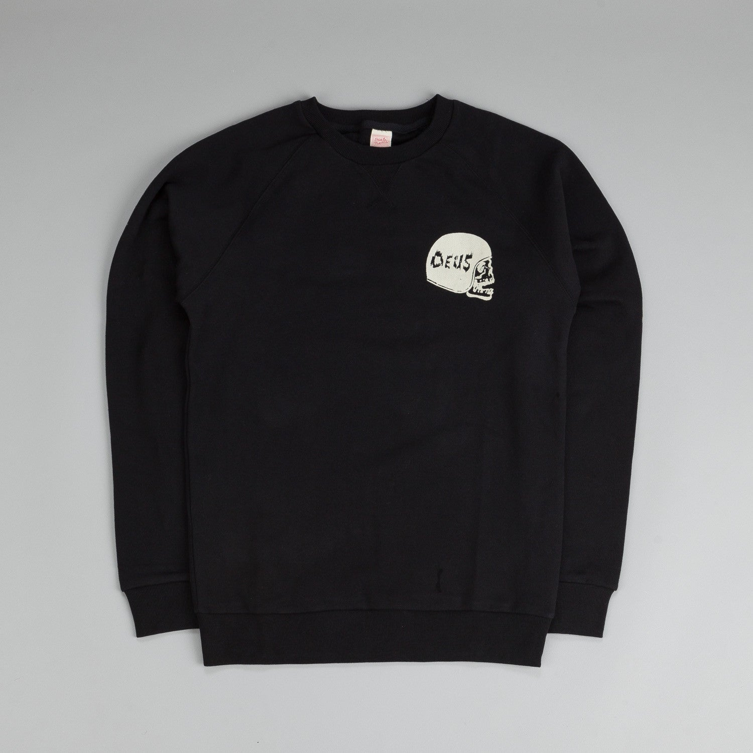 Deus Ex Machina Camperdown Skull Crew Neck Sweatshirt Black