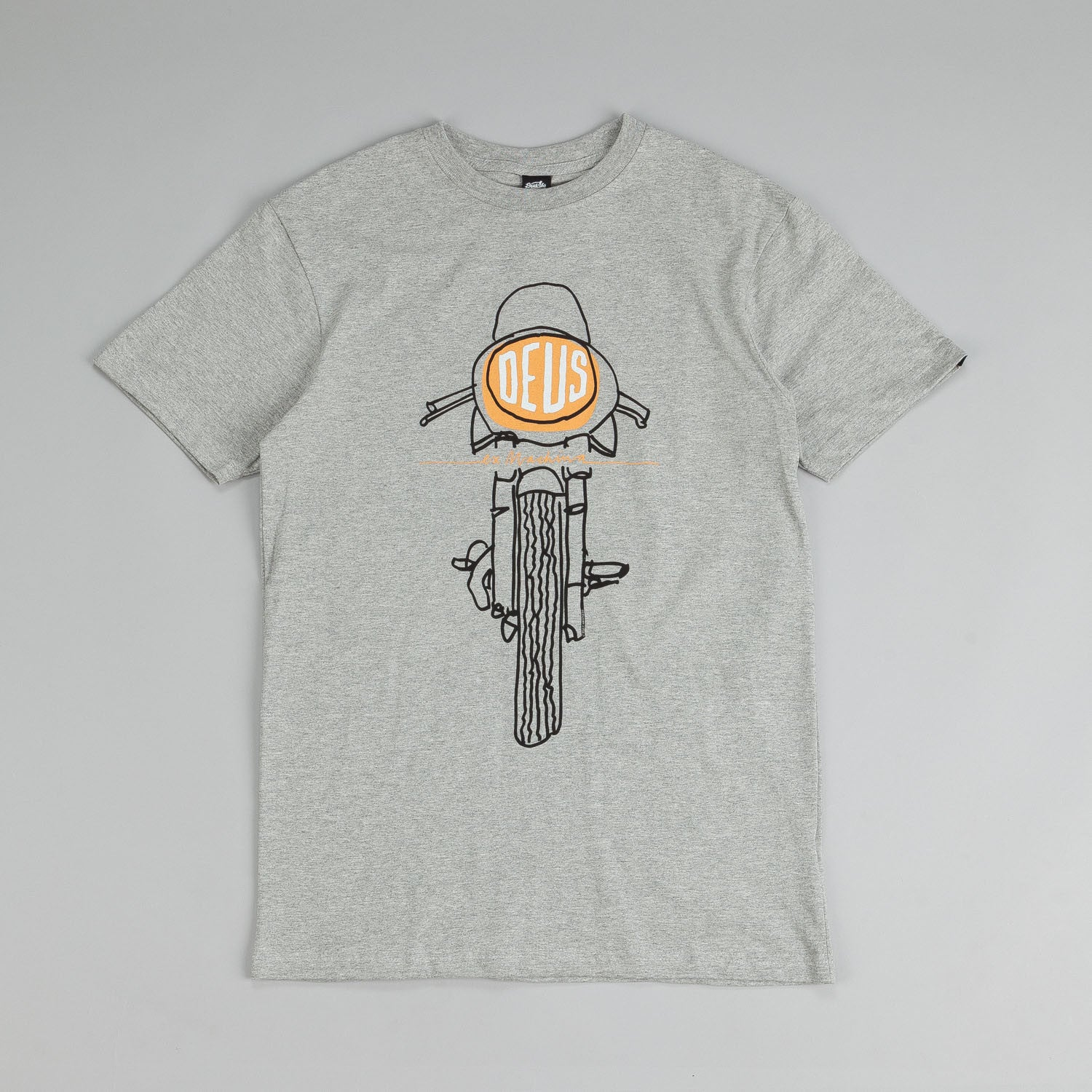 Deus Ex Machina Frontal Matchless T Shirt Grey Marle