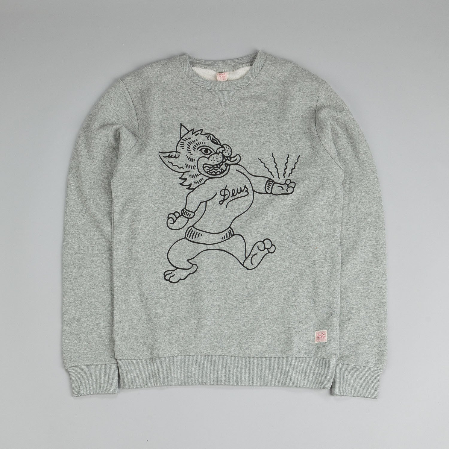 Deus Ex Machina Mason Crew Neck Sweatshirt Ash