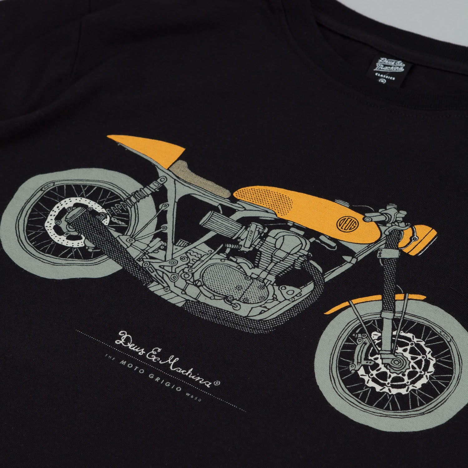 Deus Ex Machina Moto Grigio T Shirt Black