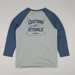 Deus Ex Machina Rituals 3/4 Sleeve Raglan T-Shirt - Athletic Heather