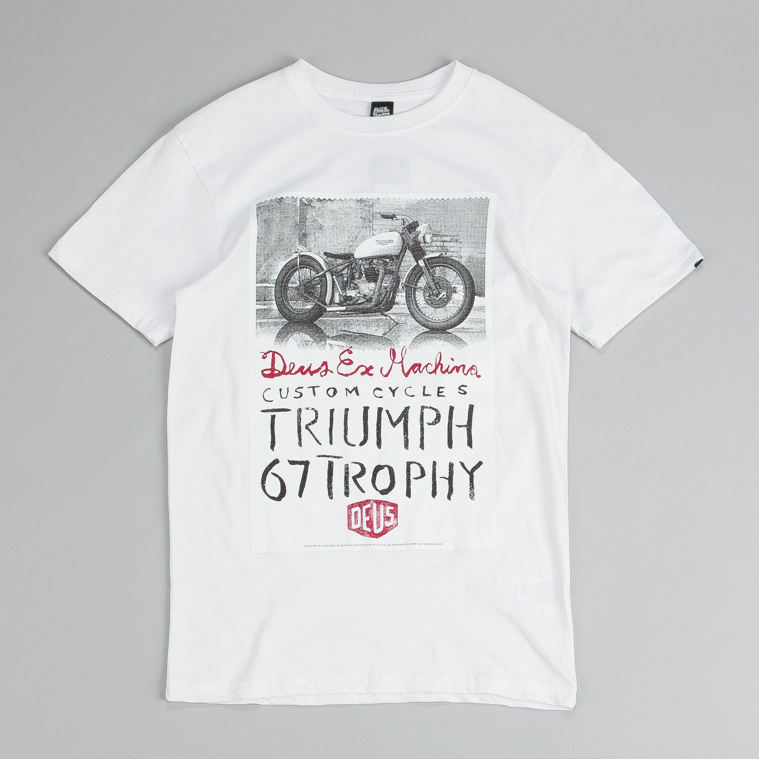 Deus Ex Machina Triumph Trophy T Shirt White