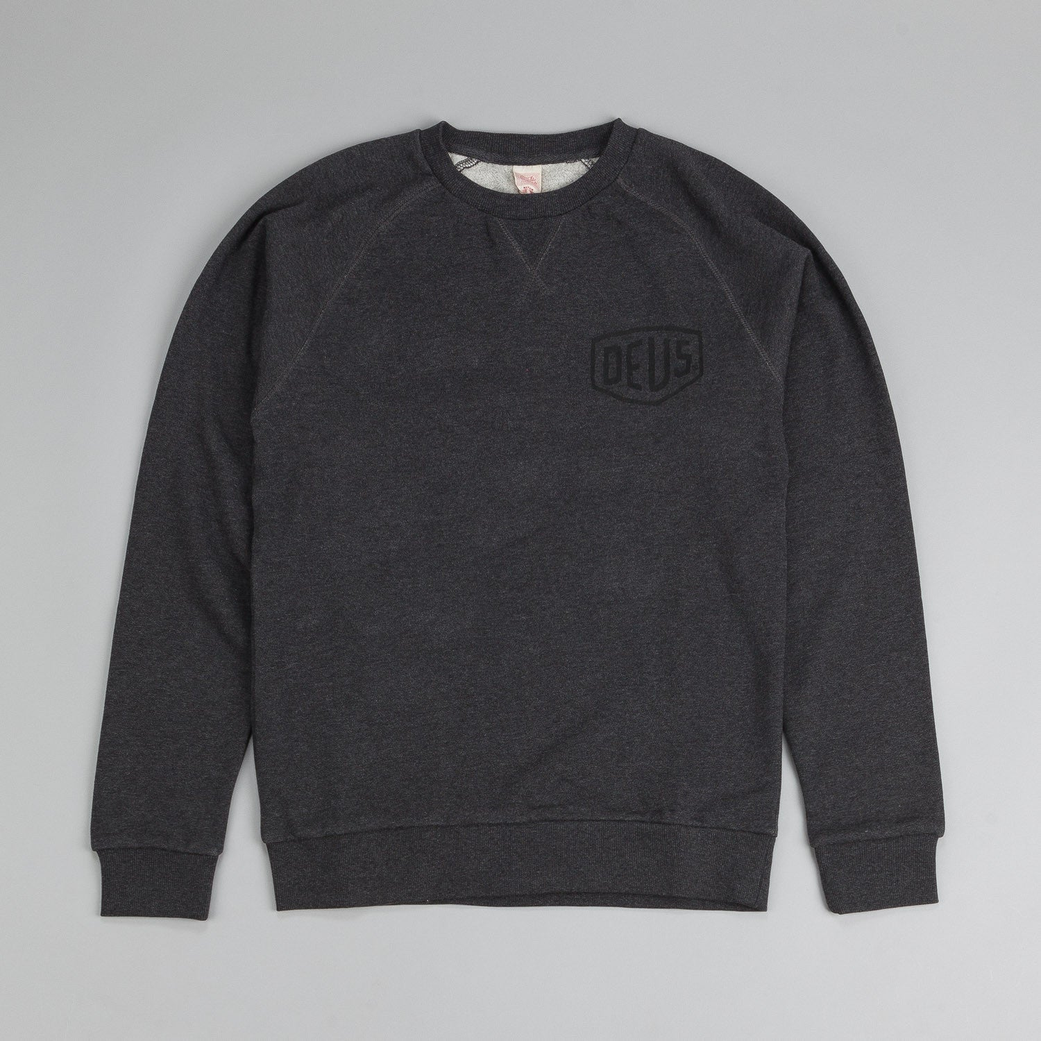 Deus Ex Machina Venice LA Address Crew Neck Sweatshirt Charcoal Marle