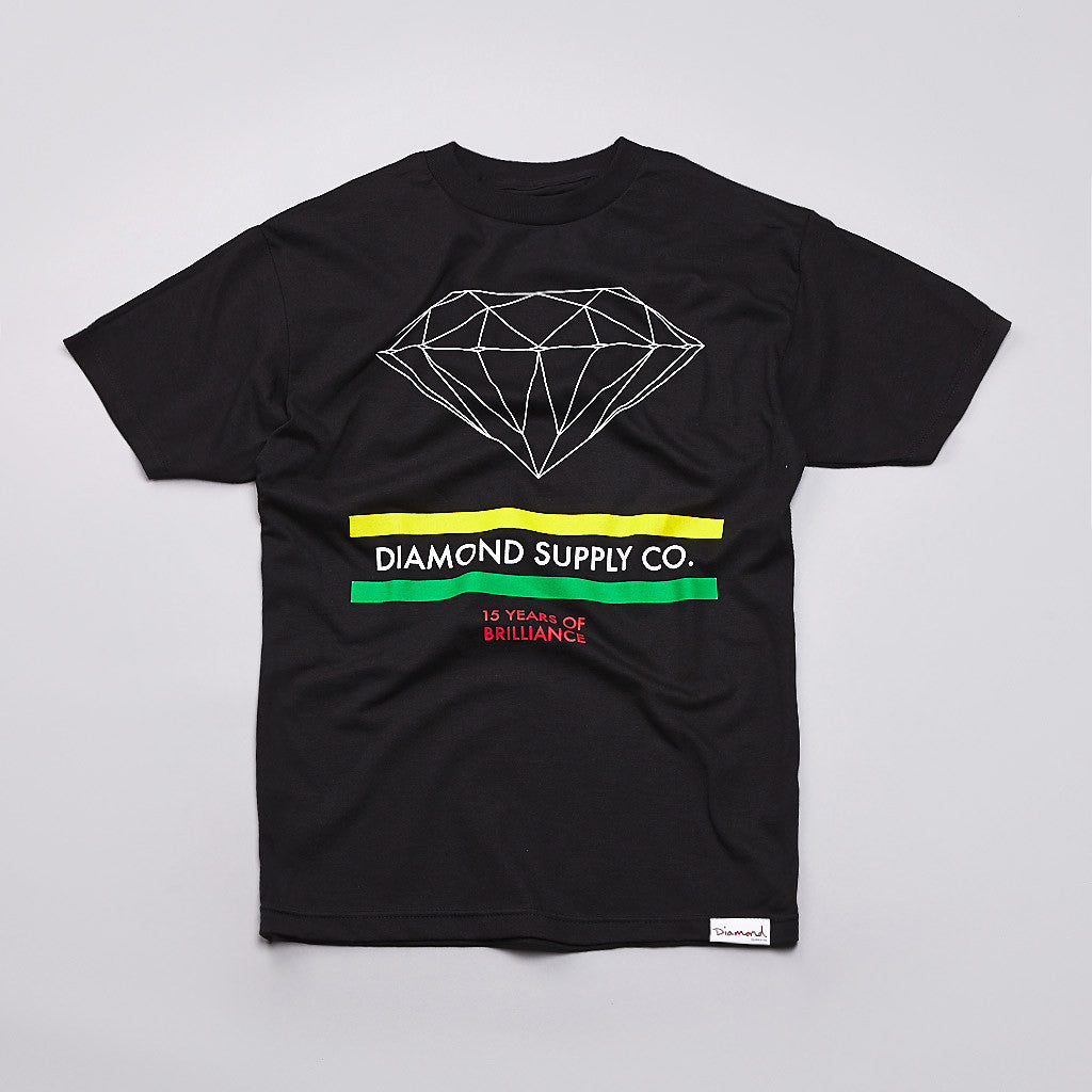 Diamond 15 Years Brilliance T Shirt Black