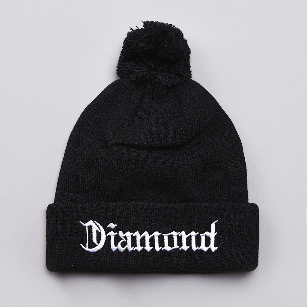 Diamond 4 Life Pom Pom Beanie Black