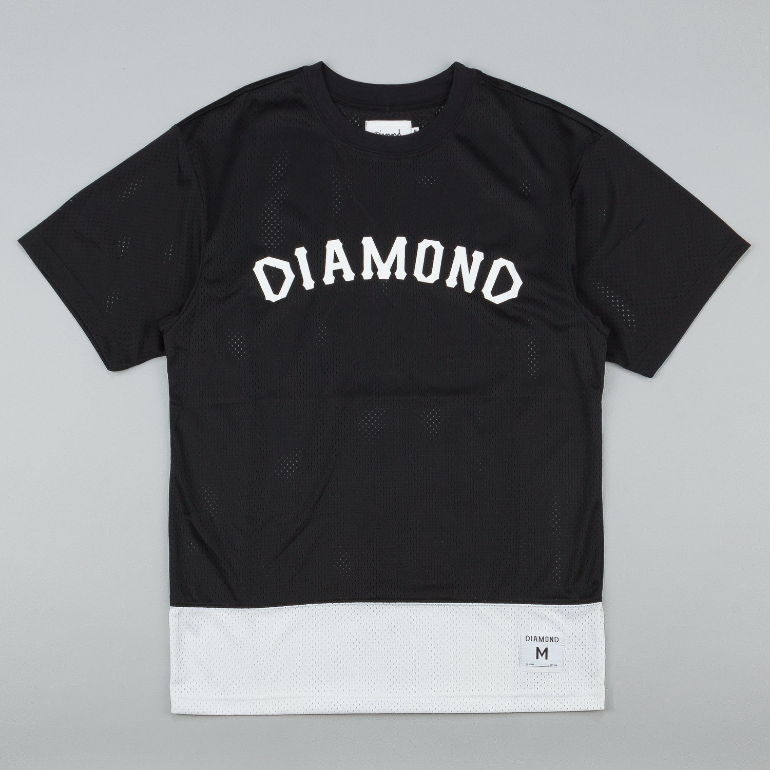 Diamond Arch Mesh T-Shirt - Black
