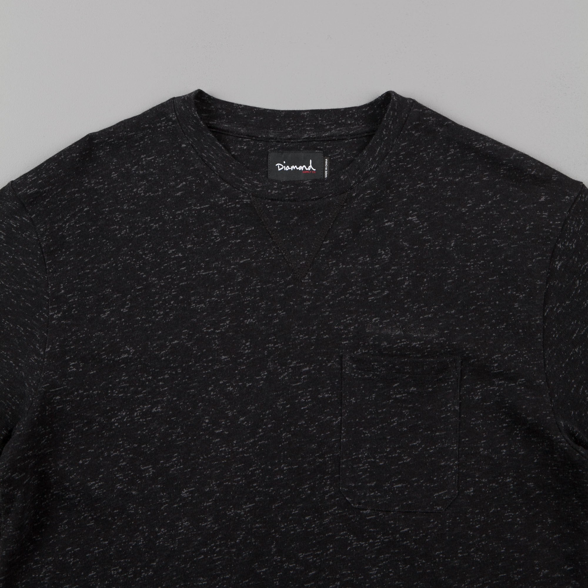 Diamond Black Facet Pocket T-Shirt - Black