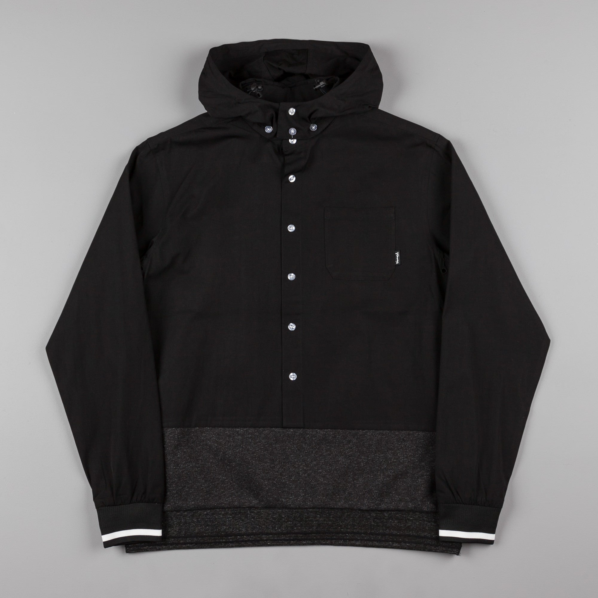 Diamond Blur Woven Pullover Jacket - Black