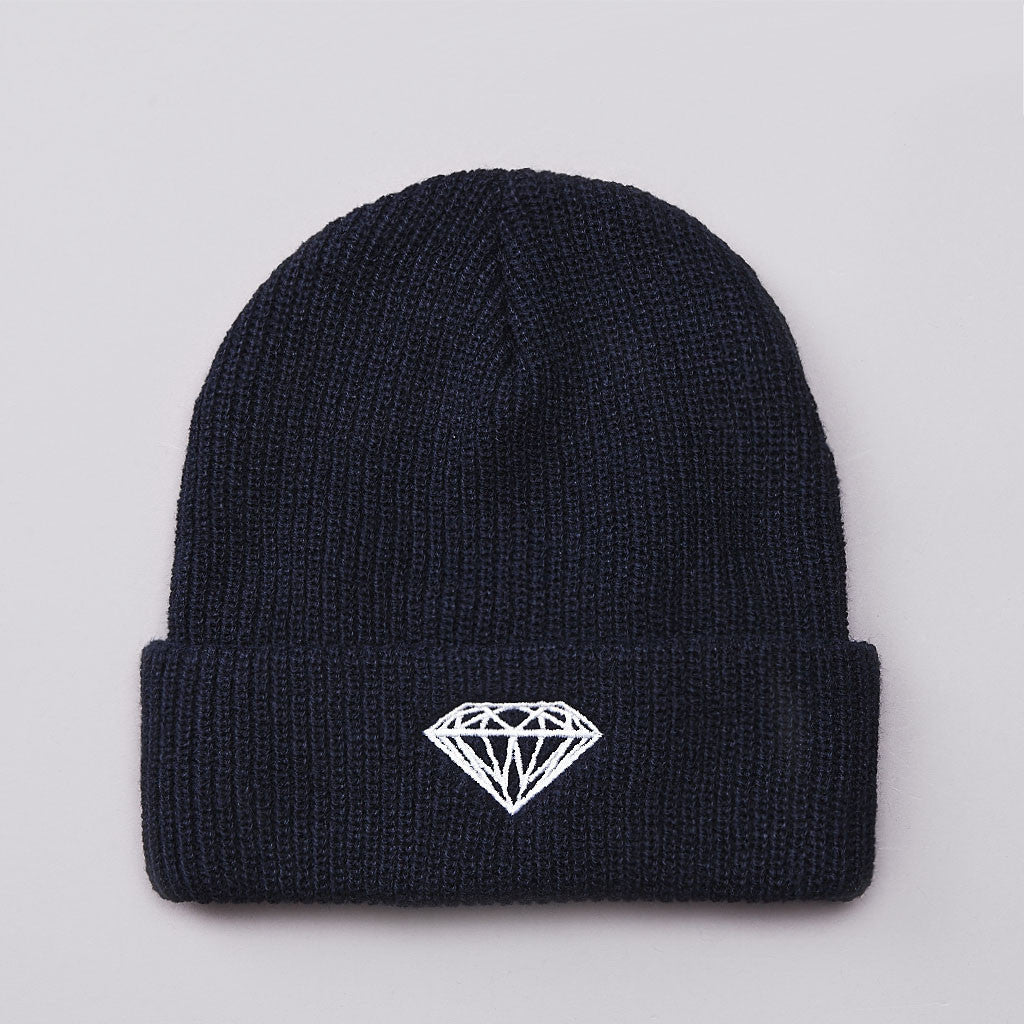 Diamond Brilliant Fold Beanie Navy