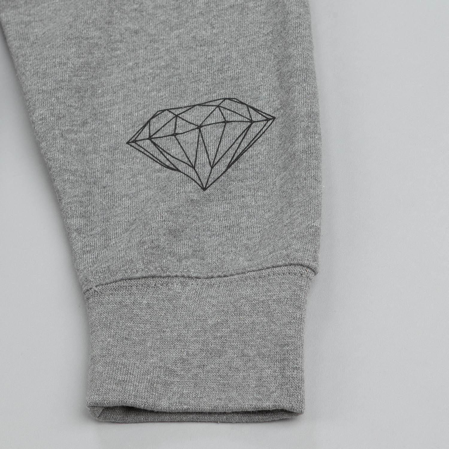 Diamond Brilliant Hooded Sweatshirt Heather Grey