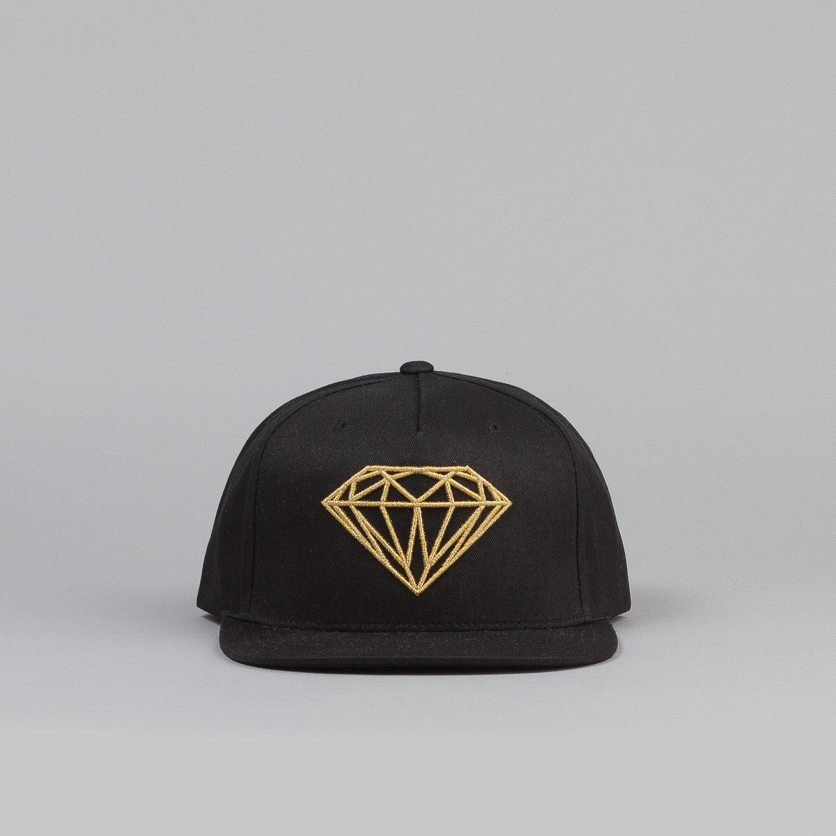 Diamond Brilliant Snapback Cap - Black