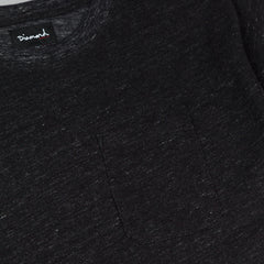 Diamond Knit Pocket T-Shirt - Heather Black