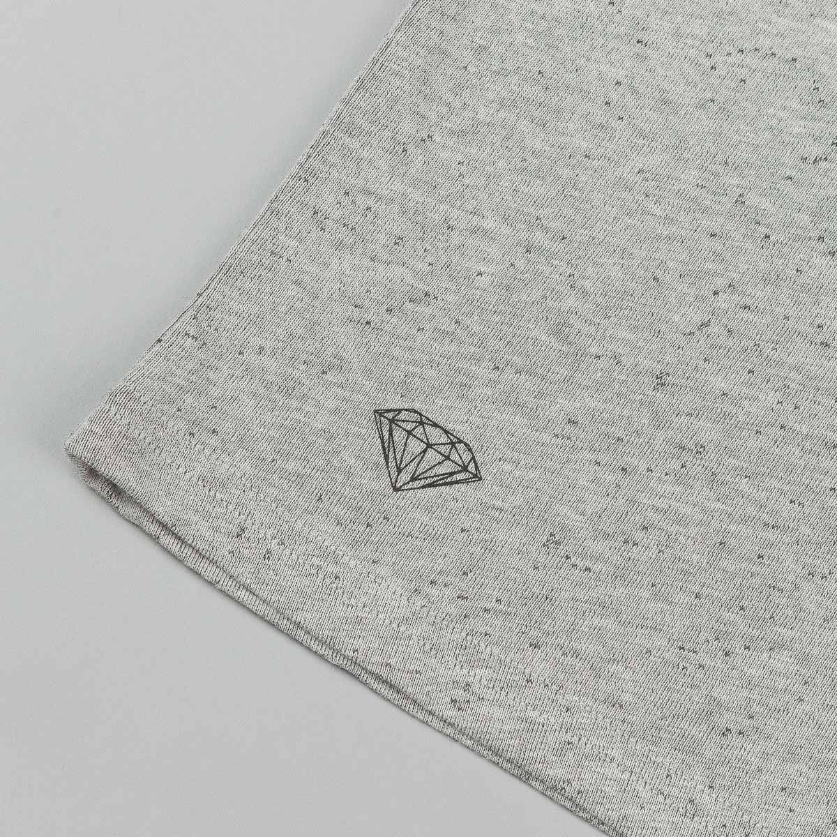 Diamond Knit Pocket T-Shirt - Heather Grey